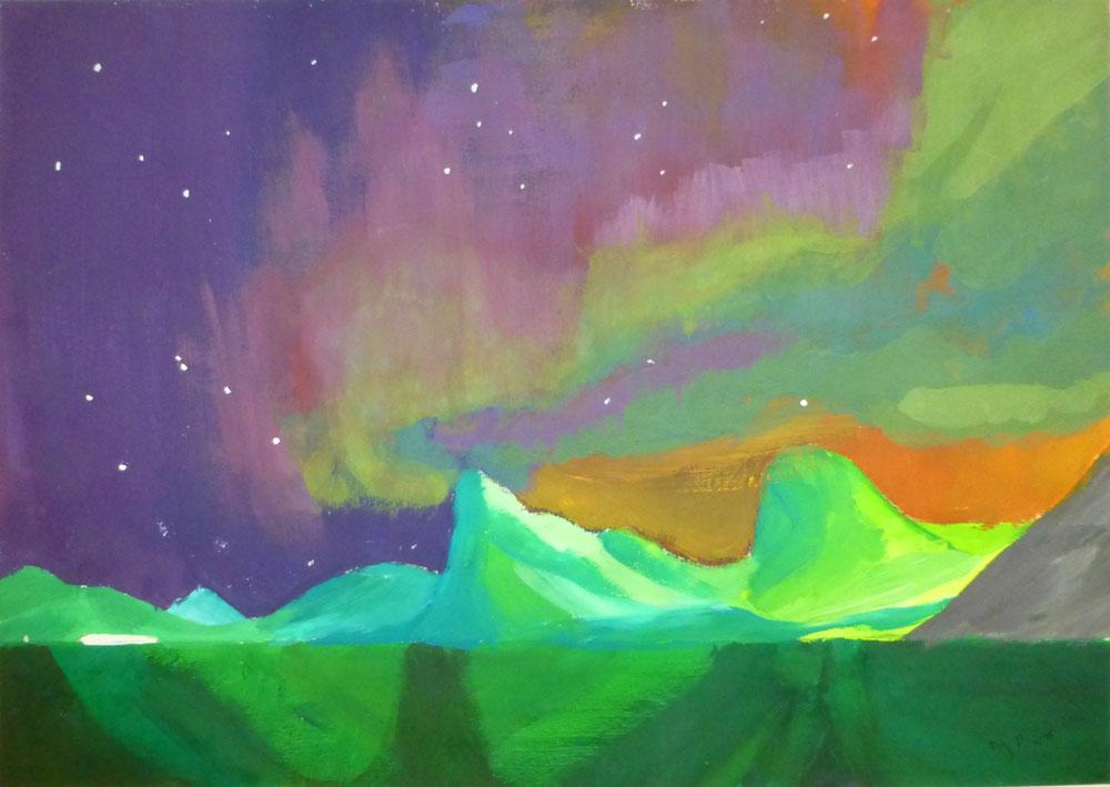 """Künstlerin: Ivy-Vanessa Peter, Titel: """"Traumlandschaft"""""""