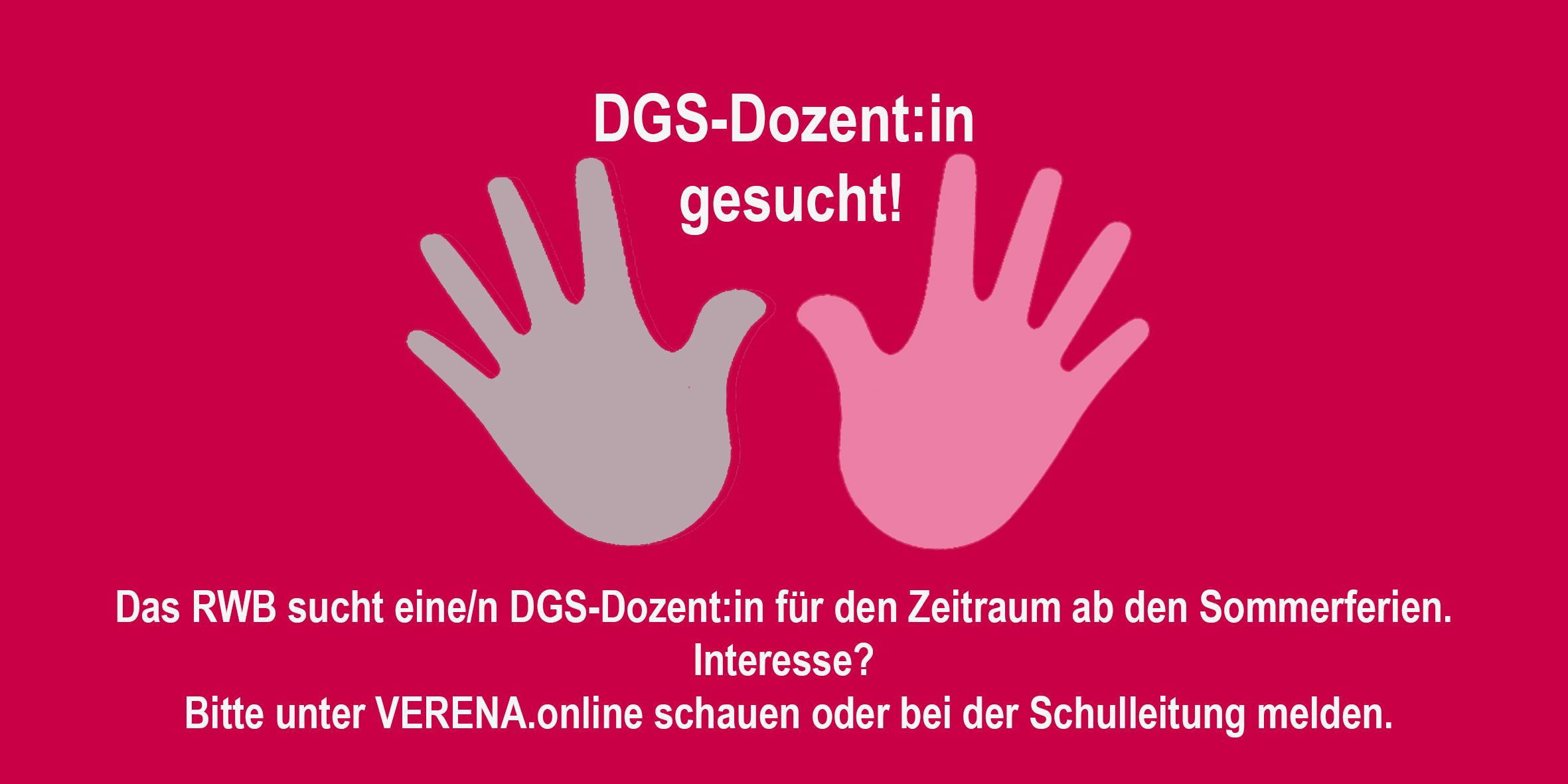 RWB Essen - Suche nach einem/einer DGS-Dozent:in