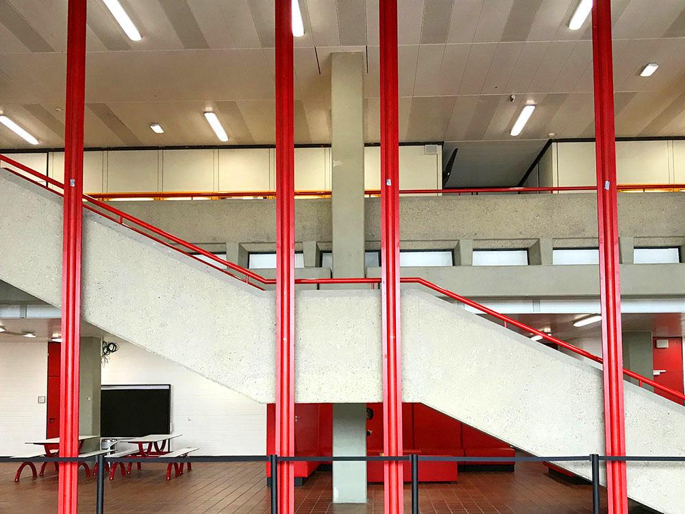 RWB Essen - Rundgang Gebäude - Blick vom PZ zur 1. Etage
