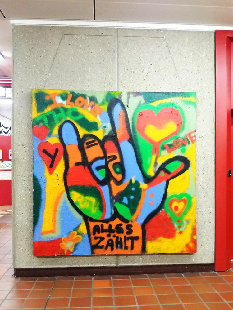 RWB Essen - Rundgang Gebäude - Kunst im Eingangsbereich