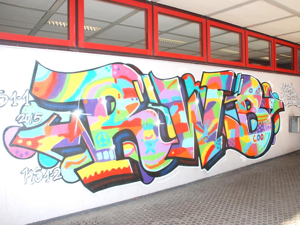 RWB Essen Schule Rundgang Grafitti Seiteneingang
