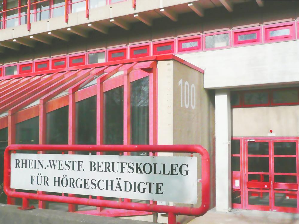 RWB Essen Schule Rundgang Eingang Schild