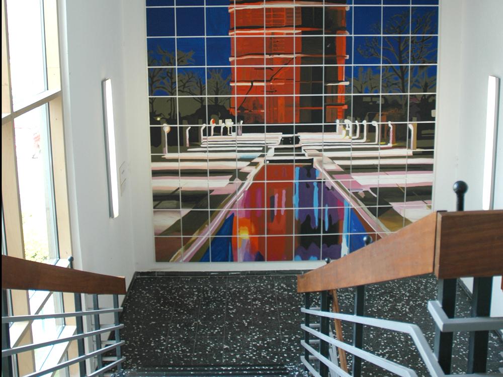 RWB Essen Schule Rundgang Treppenabgang Gebäude C