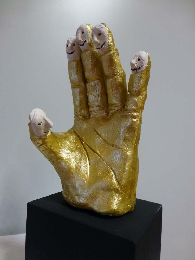 RWB Essen - Deaf Slam III - Hand-Skulptur