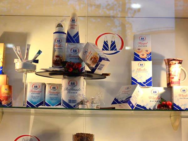 RWB Essen - Besuch der Zuckerfabrik - verschiedene Produkte aus Zucker