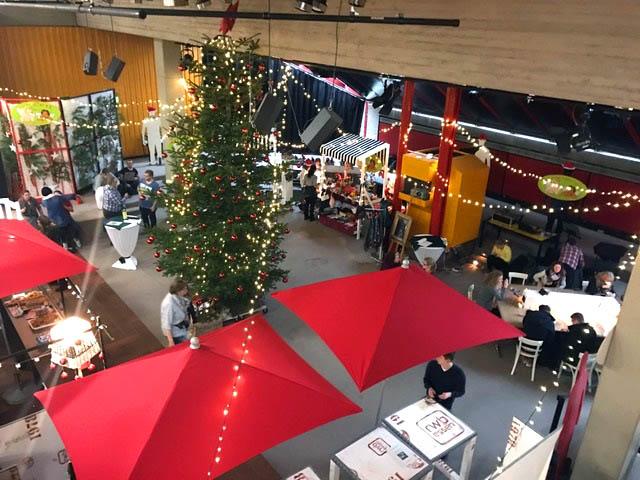 RWB Weihnachtsmarkt von oben
