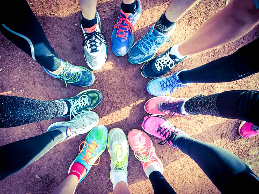 RWB Essen - Bertlicher Lauf  - Schuhe der Läuferinnen und Läufer