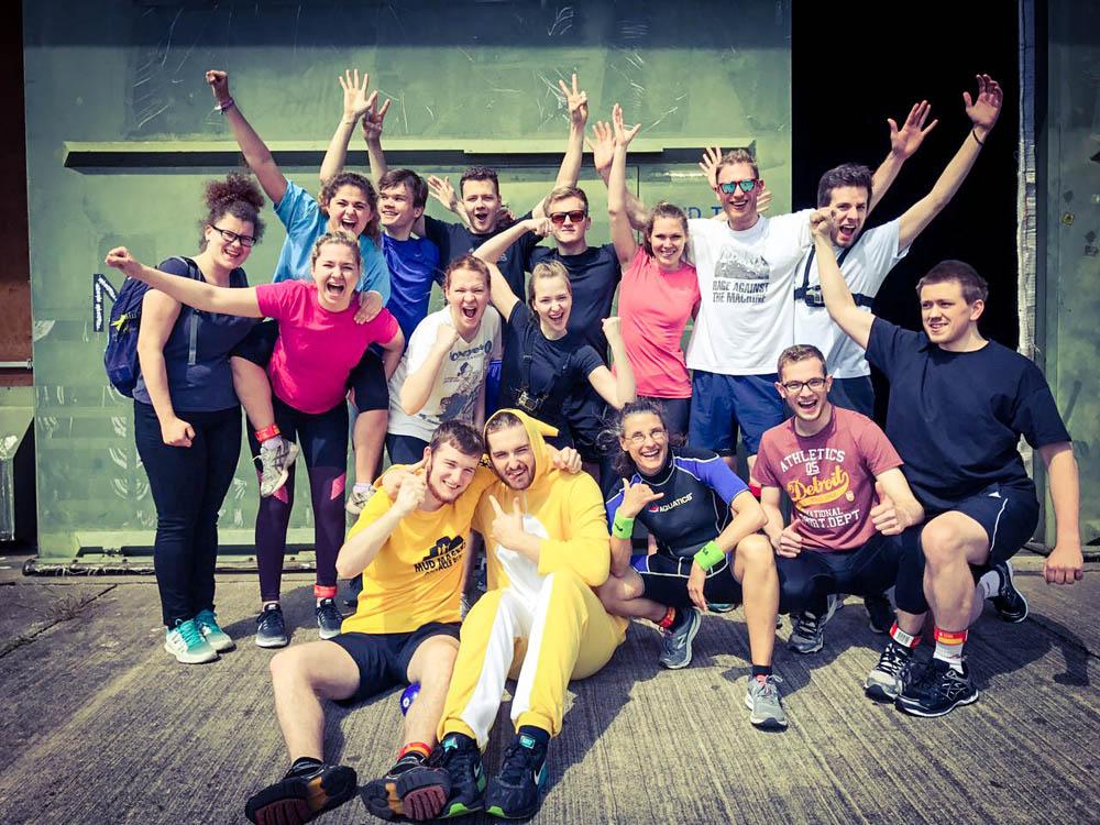 RWB Essen - Mud Masters in Weeze - Gruppenfoto vor dem Hindernislauf