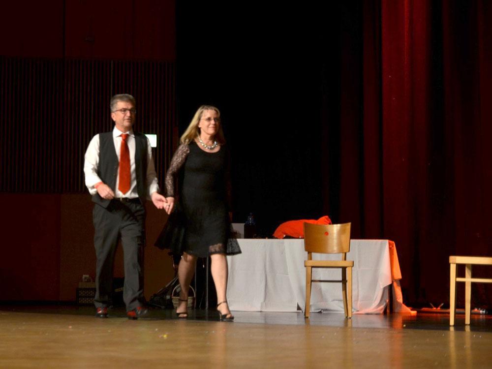 RWB Essen - Abiturfeier 2017 - Leitungsteam der Tanz-AG - Herr und Frau Wohler