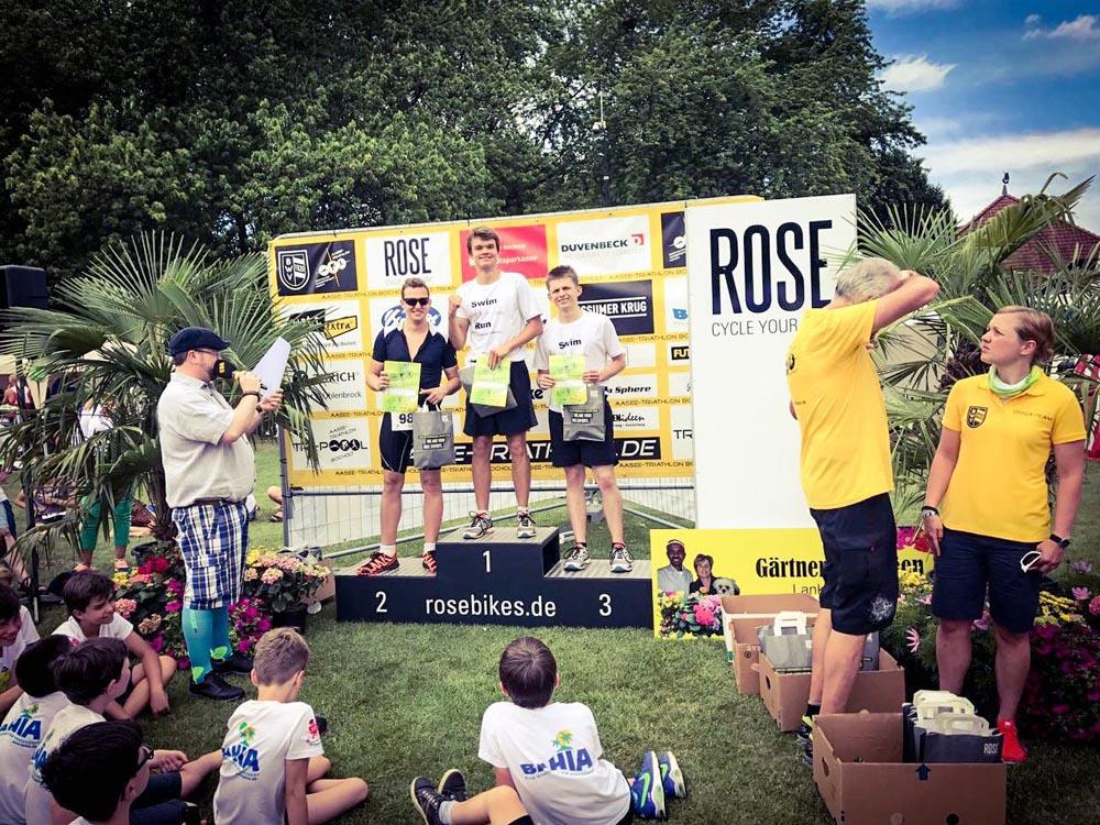 RWB Essen - Triathlon AG - Volksdistanz am Aasee in Bocholt - Siegerehrung