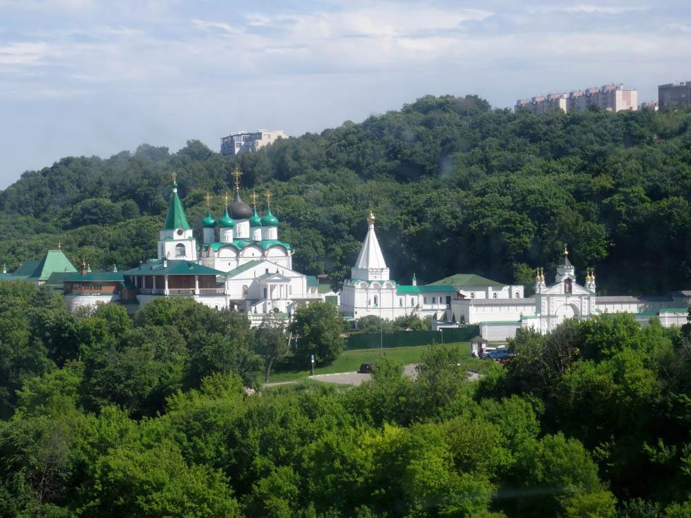 RWB Essen - Studienfahrt nach Russland - Gondelfahrt auf der Wolga zur Nachbarstadt Bor
