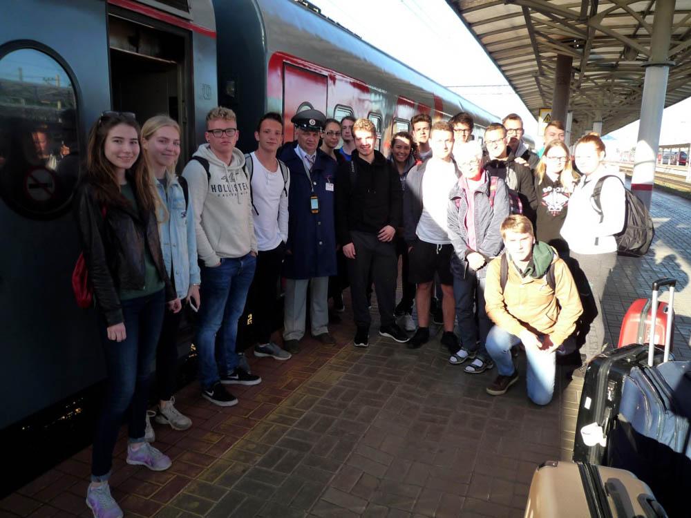 RWB Essen - Studienfahrt nach Russland - Ankunft mit dem Nachtzug in Nischnij Nowgorod