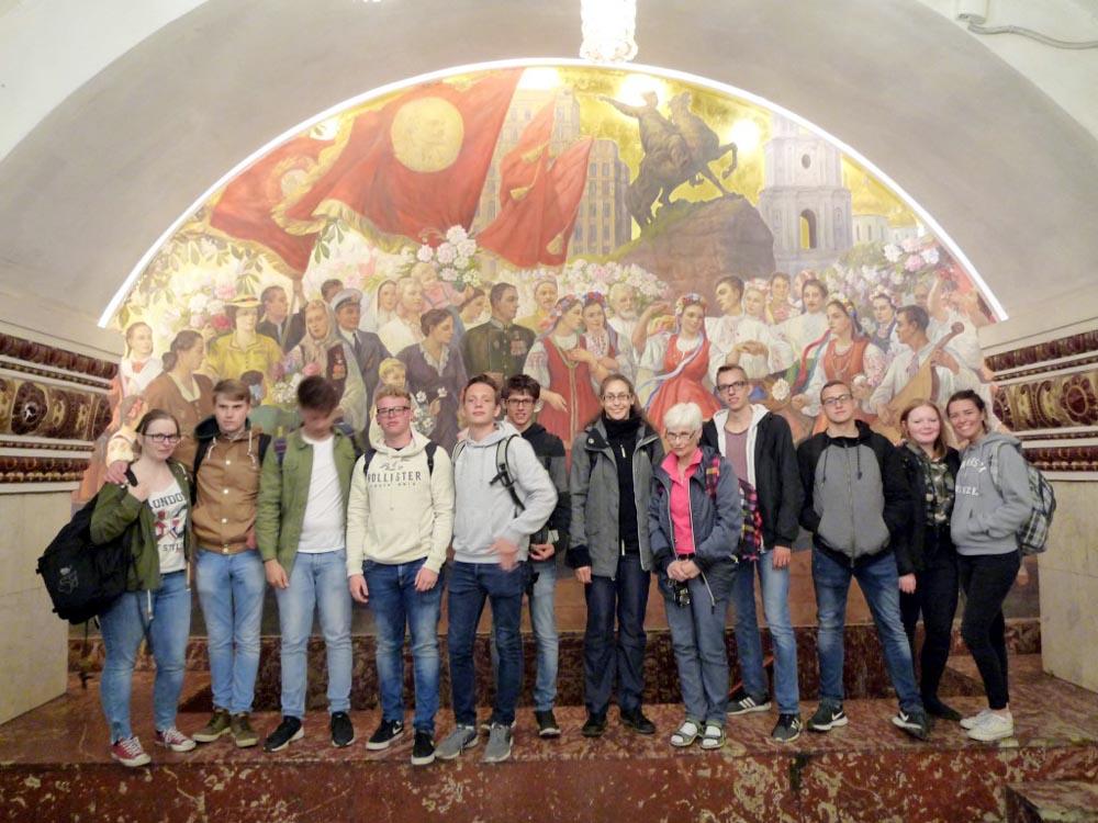 RWB Essen - Studienfahrt nach Russland - Metrostation in Moskau