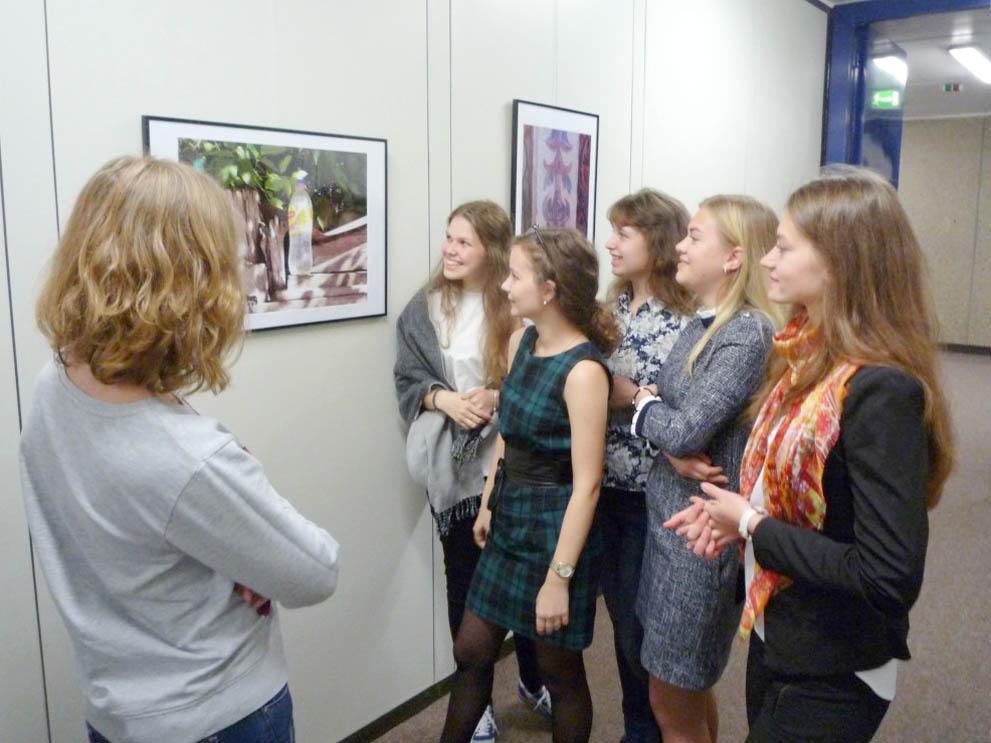 RWB Essen - Besuch aus Russland - Besichtigung der Schule - Rundgang