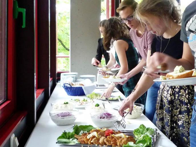 RWB Essen - Besuch aus Russland- Das Mittagsbuffet