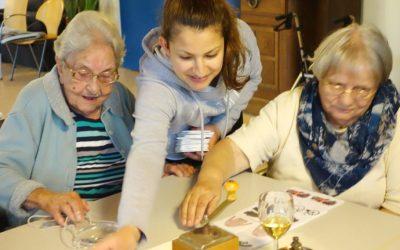 Besuch im Seniorenheim