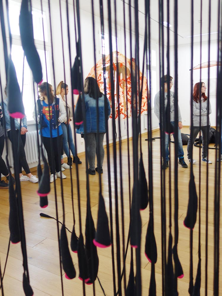 RWB Essen - Besuch des Textilmuseums in Gelsenkirchen - Objekt Assoziation Meerestiere