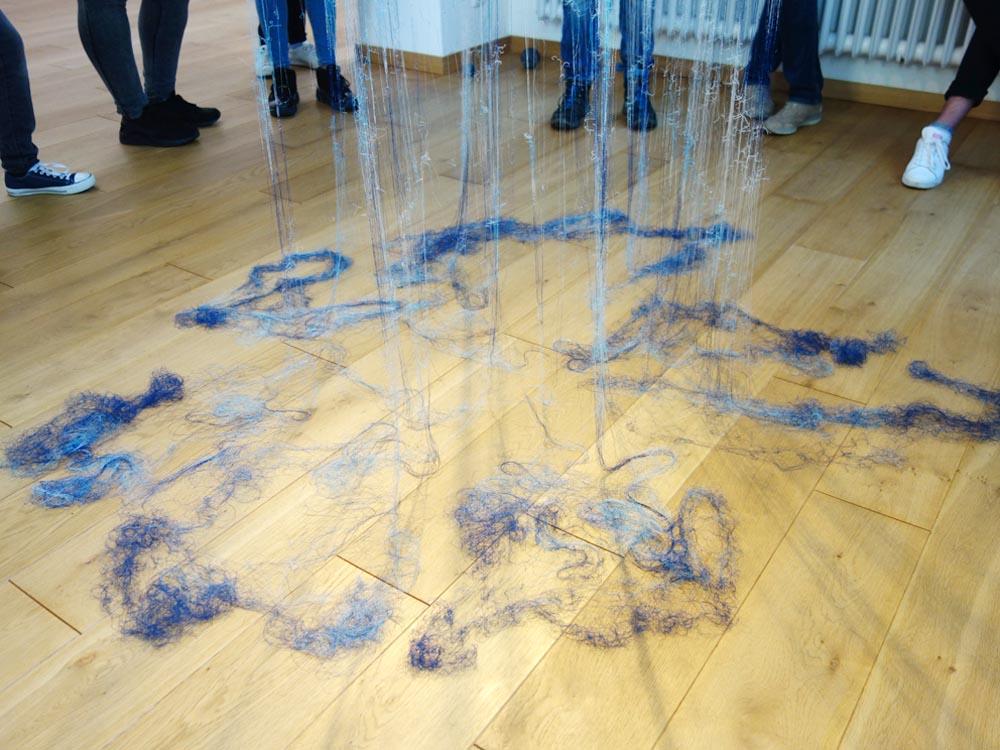 RWB Essen - Besuch des Textilmuseums in Gelsenkirchen - Objekt Assoziation Pflütze