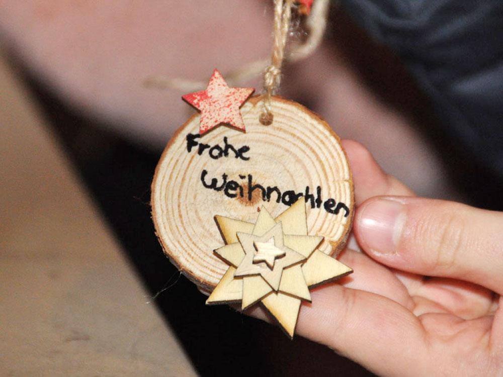 RWB Essen - Weihnachtsmarkt 2017 - selbstgemachter Anhänger bei der Mitmachaktion