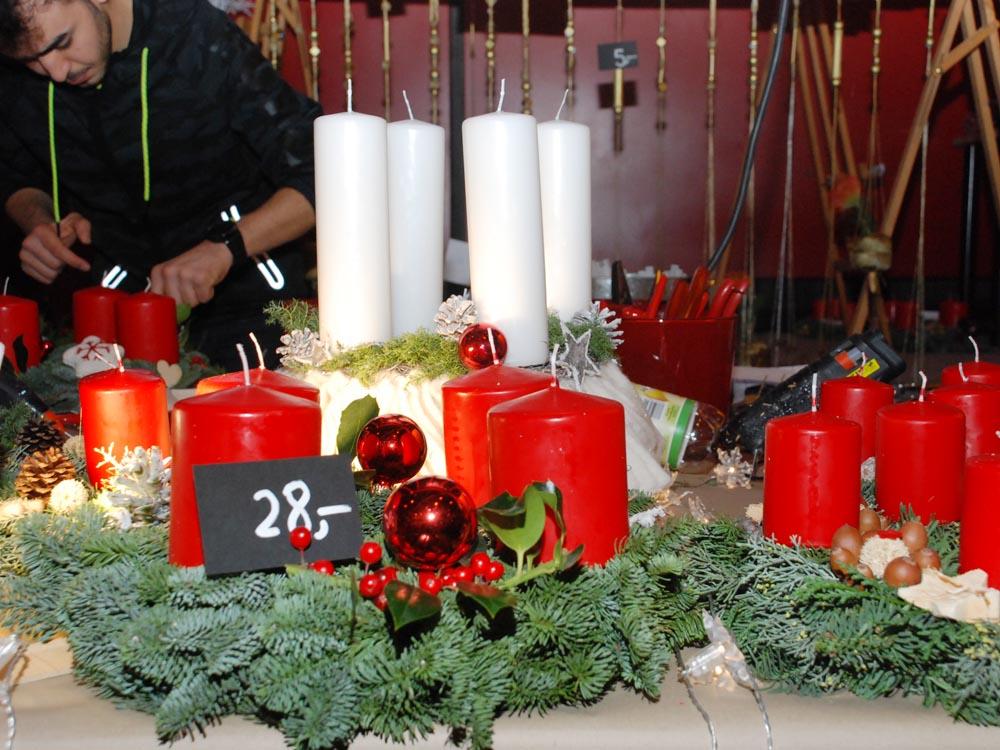 RWB Essen - Weihnachtsmarkt 2017 - Verkaufsstand für Adventskränze