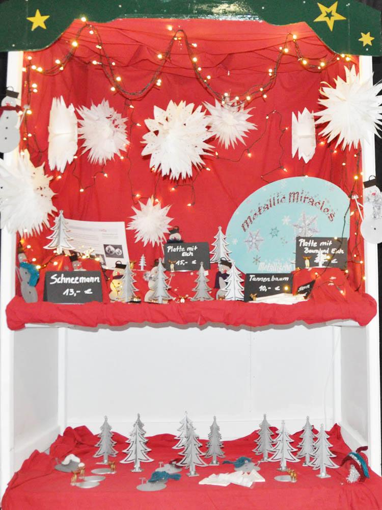 RWB Essen - Weihnachtsmarkt 2017 - Verkaufsstand für weihnachtliche Dekoartikel aus Metall