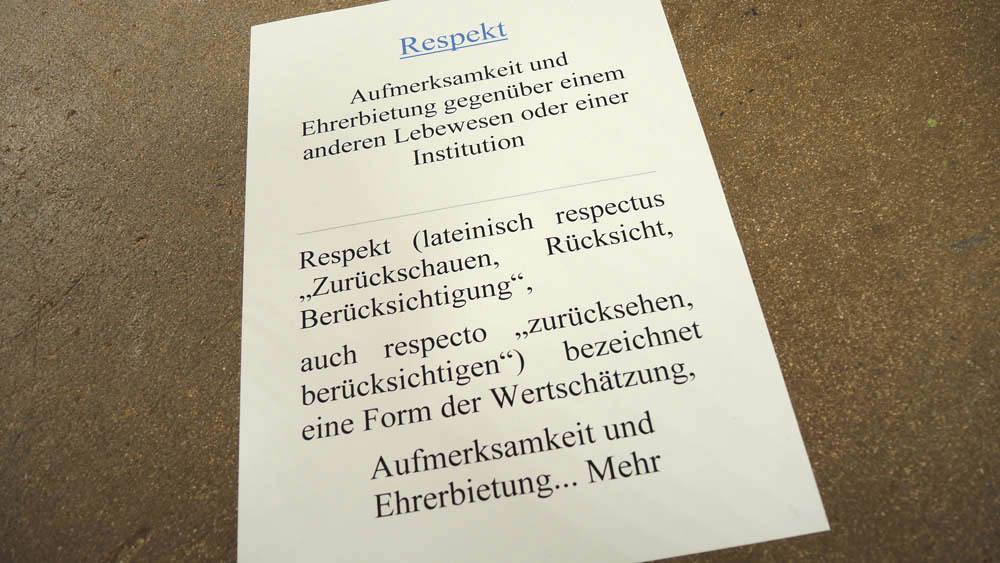 RWB Essen - Tag des Respekts in der Abteilung Ernährung und Versorgung