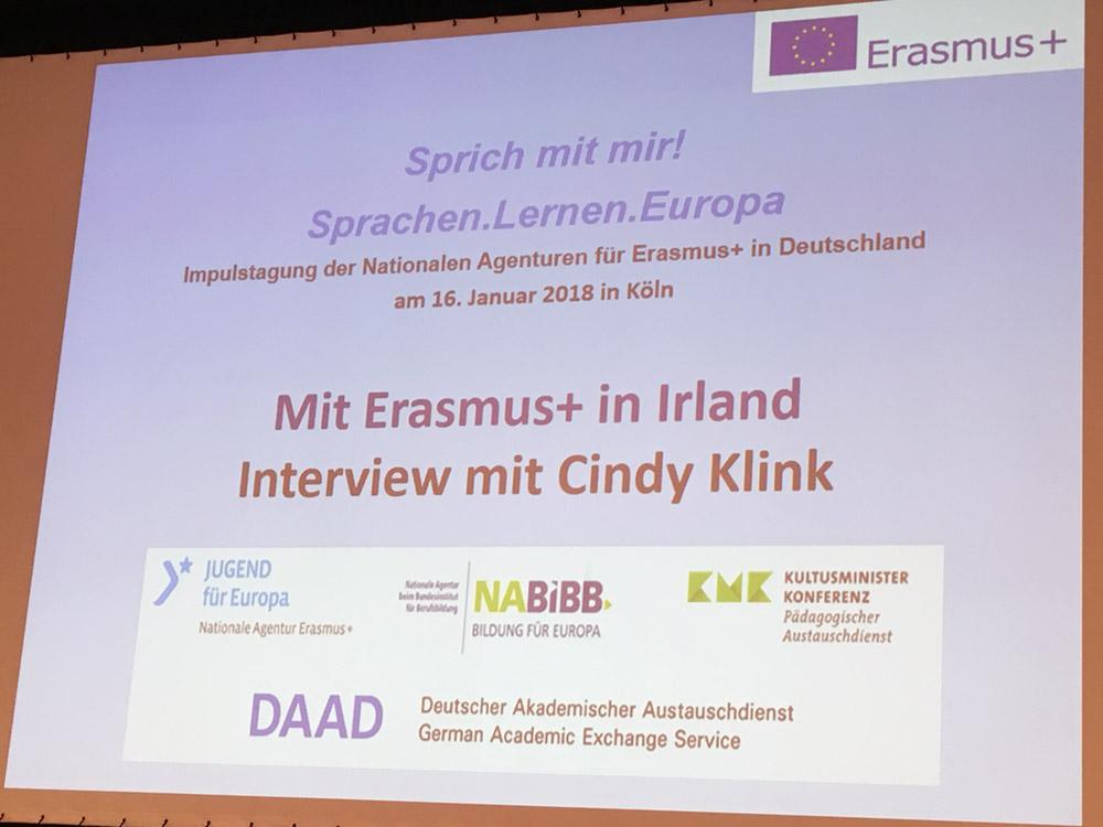 RWB Essen - Impulstagung Erasmus+ Deutschland - Cindys Powerpoint-Präsentation