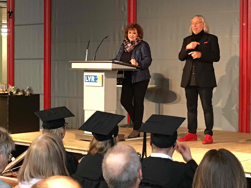 RWB Essen - Verabschiedung der staatlich geprüften Betriebswirte aus der Virtuellen Fachschule - Rede der Leiterin der Virtuellen Fachschule Frau Fischer