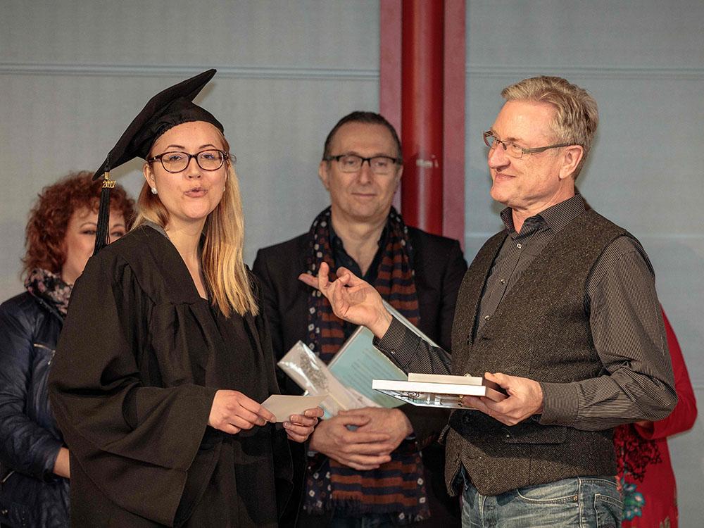 RWB Essen - Verabschiedung der staatlich geprüften Betriebswirte aus der Virtuellen Fachschule - Lehrer Herr Schrumpf