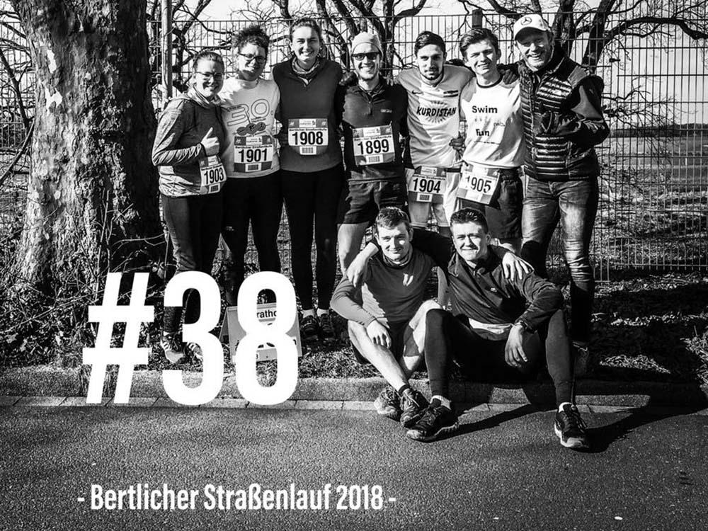 RWB Essen - Triathlon AG - Bertlicher Straßenlauf 2018 - Gruppenbild der Teilnehmerinnen und Teilnehmer