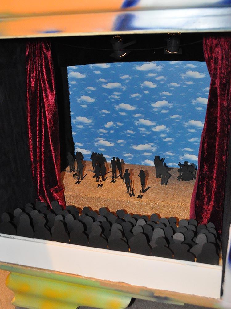 """RWB Essen - Kunstprojekt """"Alles Theater"""" - Bühnenbild """"Bühne mit der Band Fighting Spirits"""""""