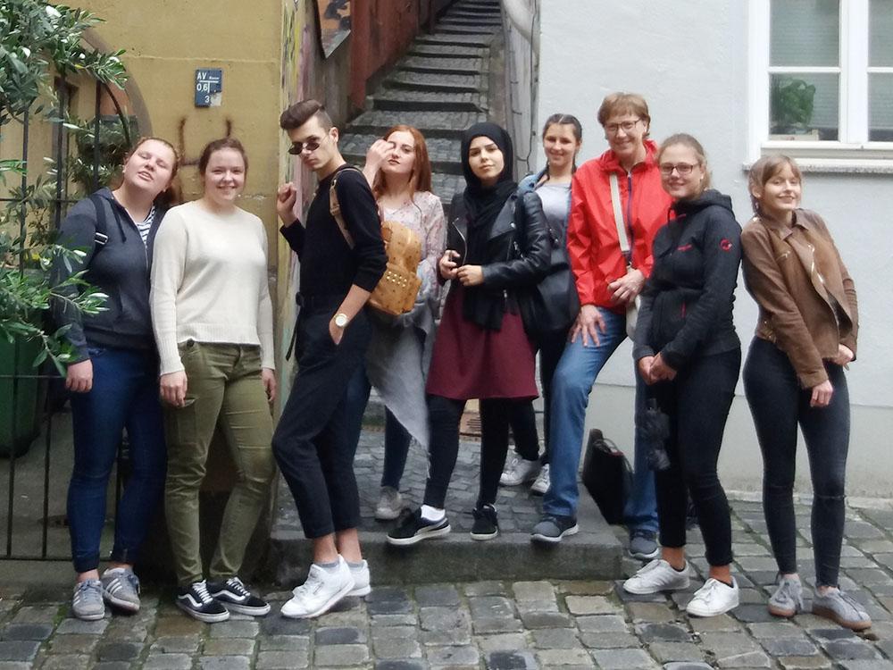 RWB Essen - Studienfahrt nach Augsburg - Eine Showtreppe in der Altstadt