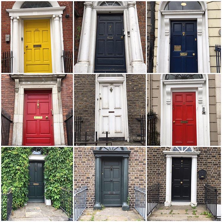 RWB Essen - Studienfahrt nach Dublin - doors of Dublin
