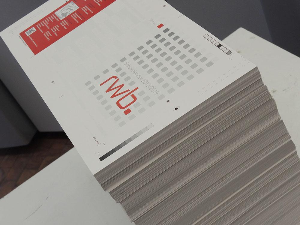 RWB Essen - Schulkalender 2018/2019 - Jetzt ist der Flyer fertig gedruckt.