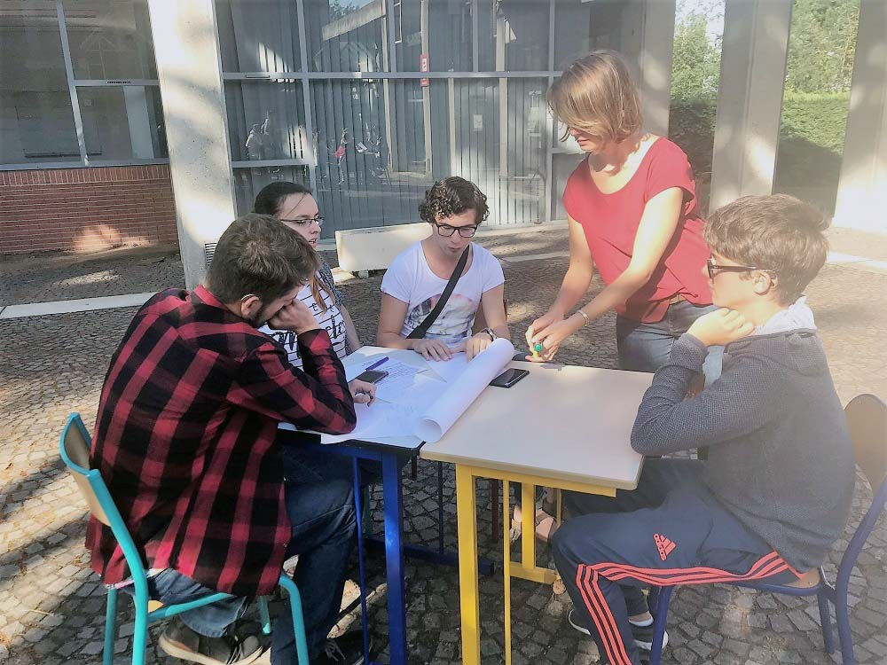 RWB Essen - Studienfahrt nach Toulouse - Inka erklärt was zu tun ist.