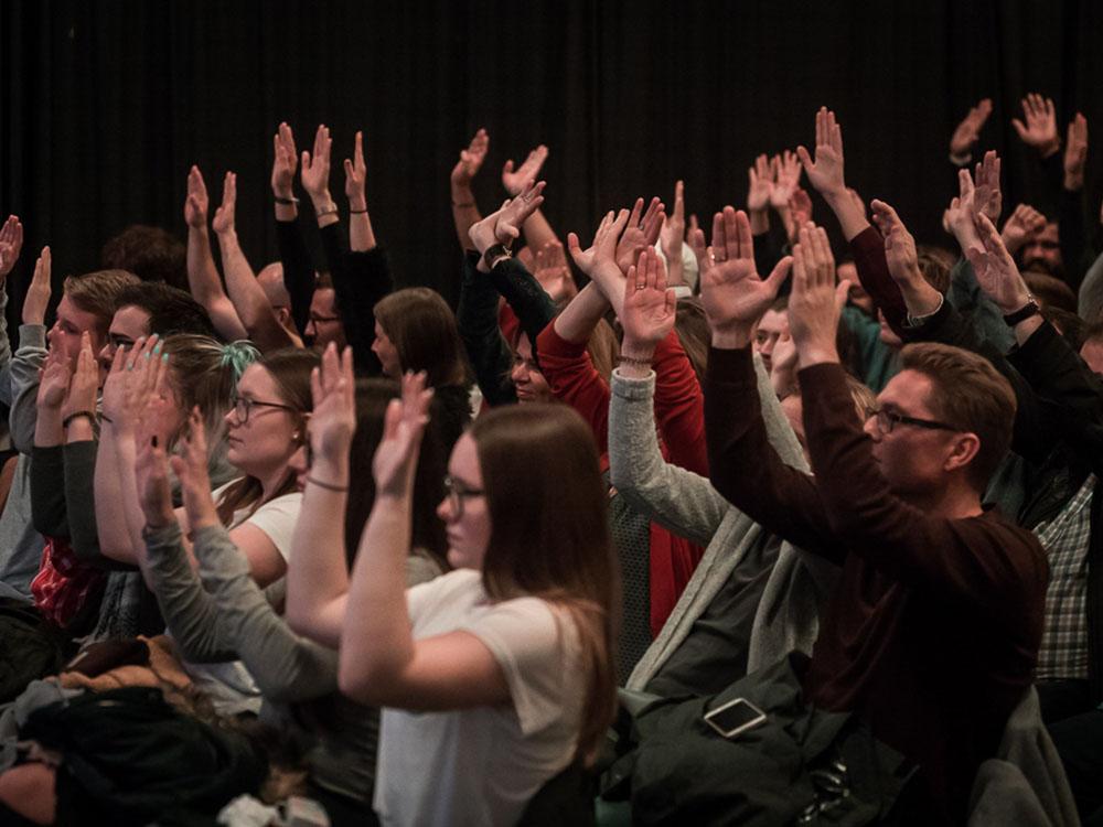 RWB Essen - Deaf slam 5 - Applaus des Publikums