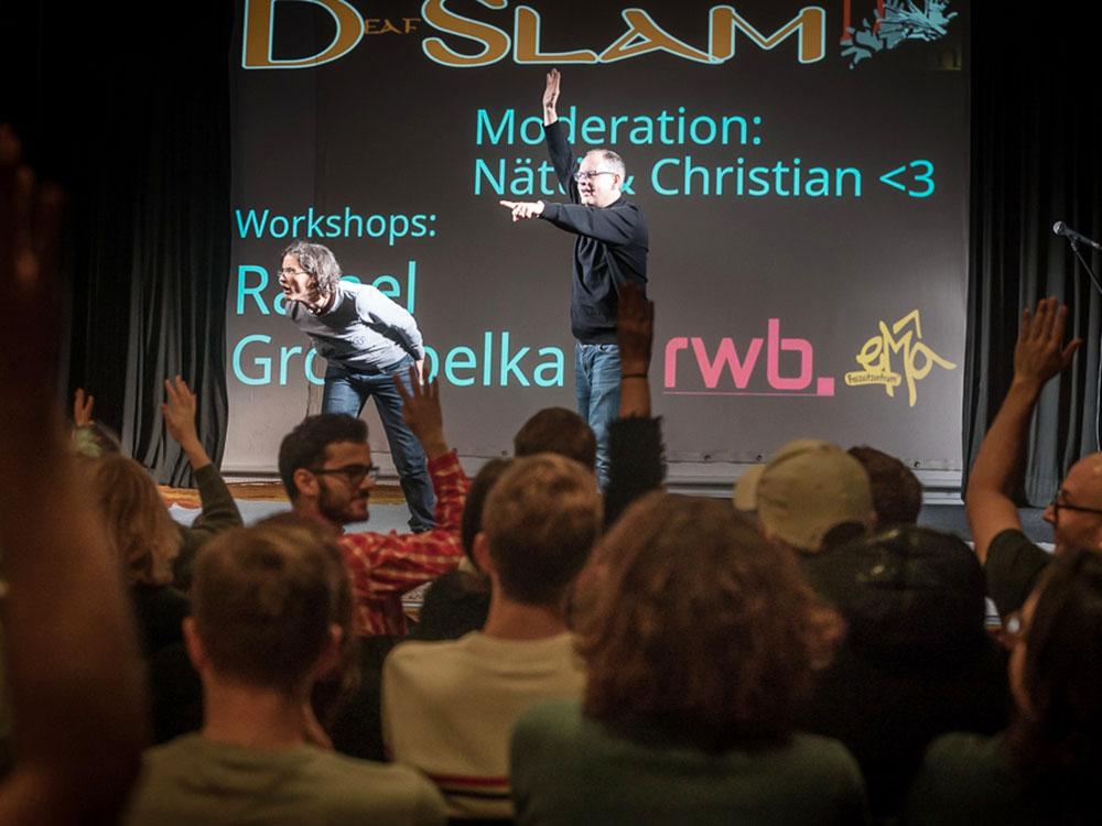 RWB Essen - Deaf slam 5 - Das Moderatoren-Team