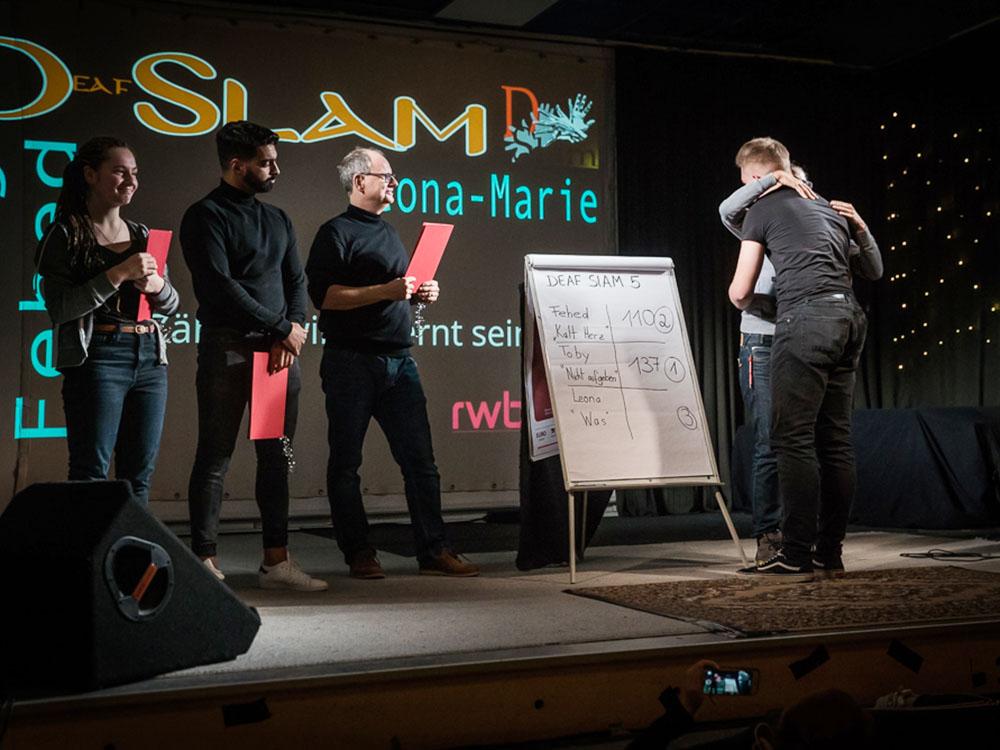 RWB Essen - Deaf slam 5 - Preisvergabe