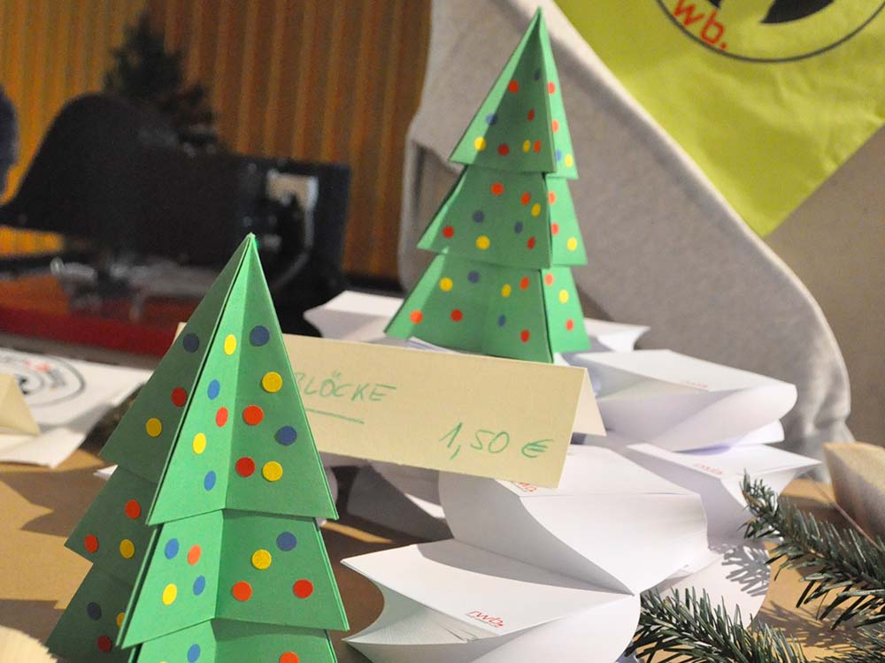 RWB Essen - Weihnachtsmarkt 2018 - Verkauf von Karten, Blöcken, Büchern und vielem mehr