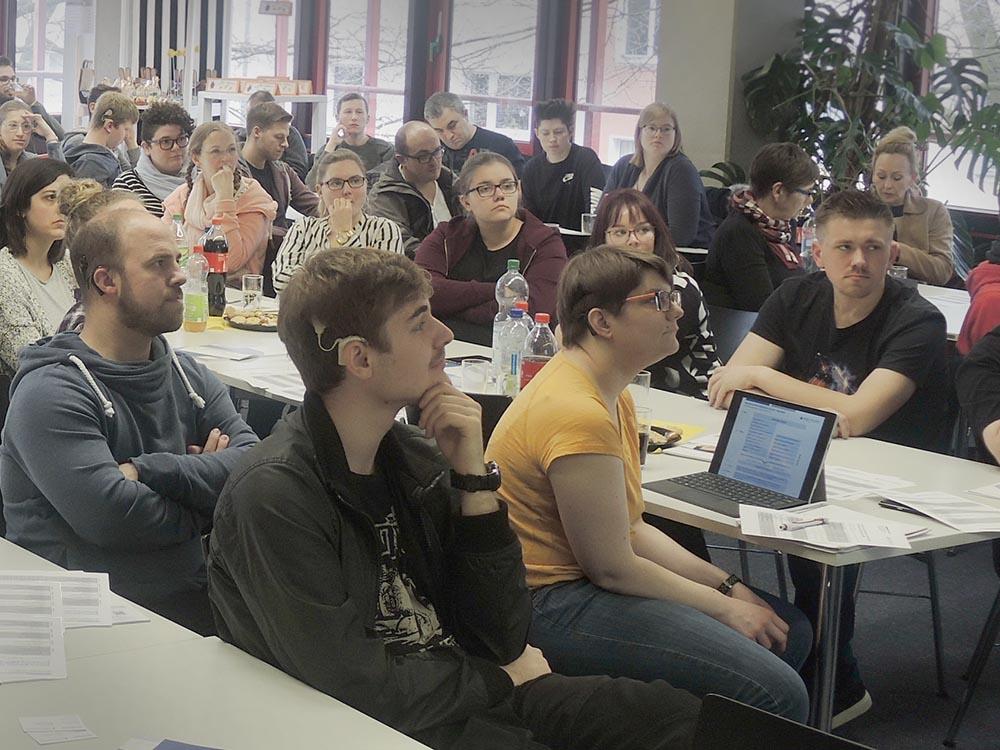RWB Essen - Präsentation der PFH Göttingen - 50 Fachschülerinnen und Fachschüler besuchten die Veranstaltung.