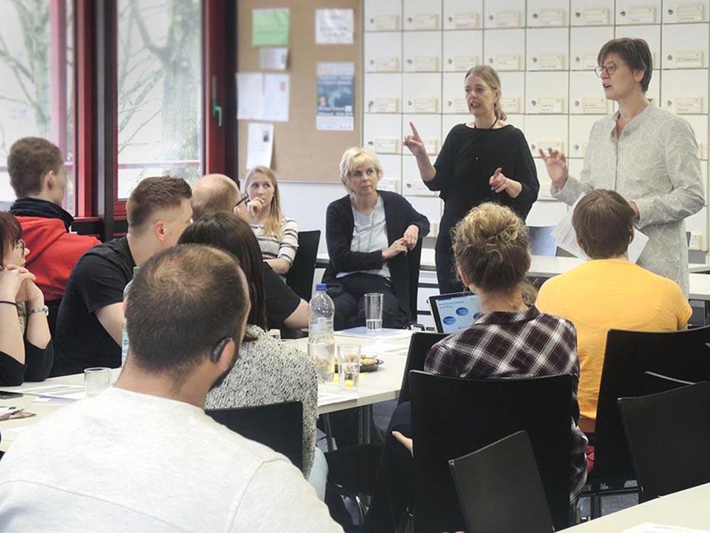 RWB Essen - Präsentation der PFH Göttingen - Prof. Mörstedt erläutert das Studienangebot der PFH Göttingen.