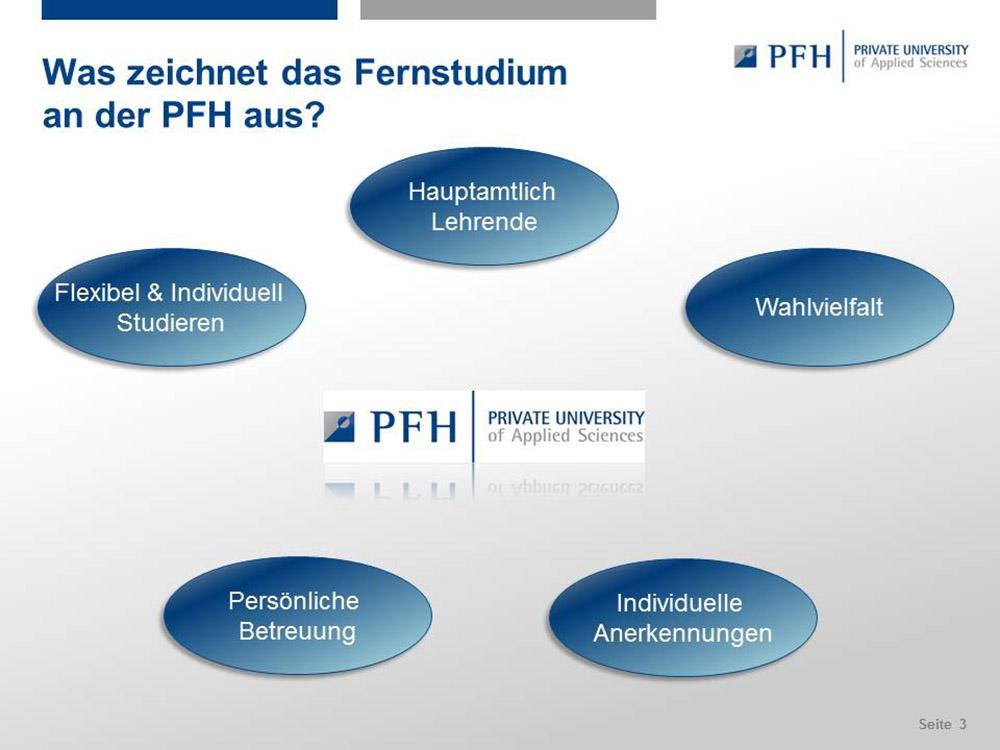 RWB Essen - Präsentation der PFH Göttingen - Die individuelle Betreuung ist an der PFH Göttingen sehr wichtig.