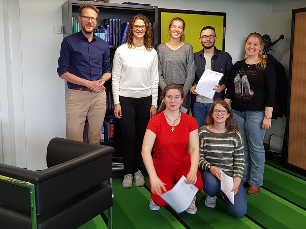 RWB Essen - Ein Tag im Labor des Uniklinikums Aachen - Gruppenbild im Insitut für Physiologie