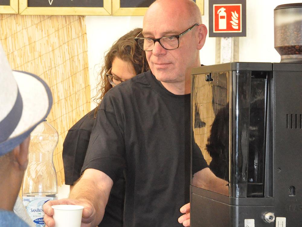 RWB Essen - Tag der Begegnung 2019 in Köln - Die RWB Cafébar ist immer wieder ein beliebter Anziehungspunkt für die Besucher.