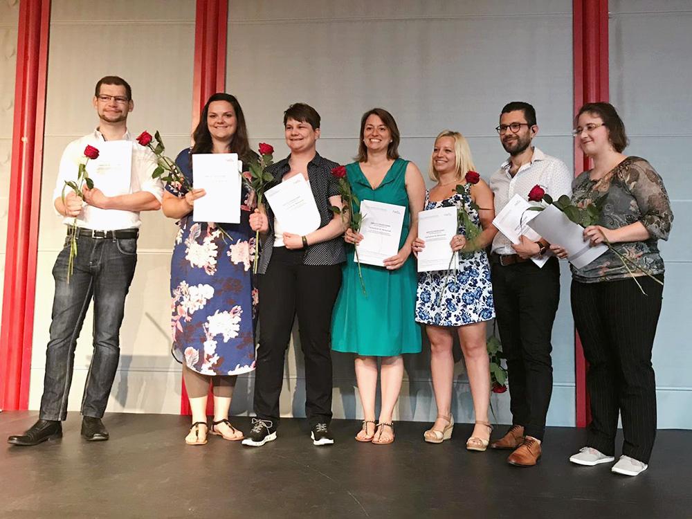 RWB Essen - Abschlussfeier der Fachschule Wirtschaft 2019 - Die Staatlich geprüften Betriebswirtinnen und Betriebswirte haben ihre Abschlusszeugnisse erhalten.