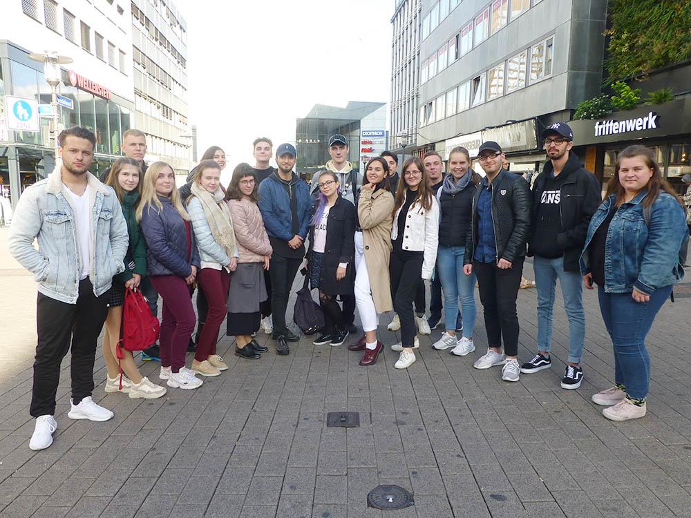 RWB Essen - Besuch aus Nischni Nowgorod - Die Gruppen besuchen gemeinsam die Stadt Essen.