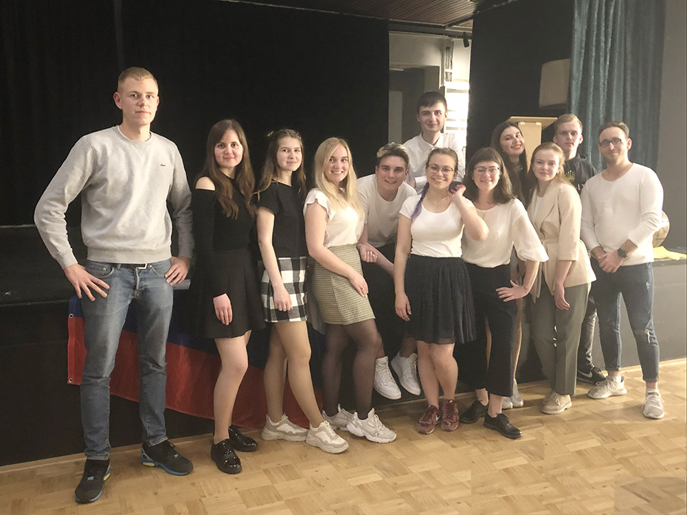 RWB Essen - Besuch aus Nischni Nowgorod- Die Gruppen feiern gemeinsam einen Abschiedsabend.