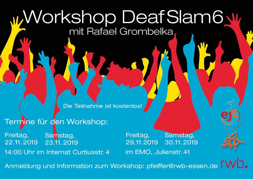 RWB Essen - Ankündigung Deaf Slam 6 -Workshop