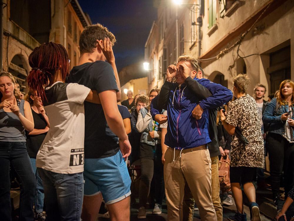 RWB Essen - Studienfahrt nach Toulouse 2019 - Tag 3 - Deaf Battle - Unsere Schülerinnen und Schüler geben alles.