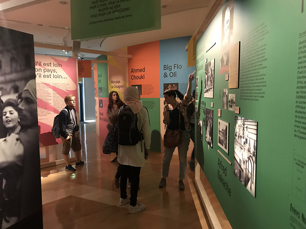 RWB Essen - Studienfahrt nach Toulouse 2019 - Tag 4 - Besuch einer Ausstellung zum Thema Migration